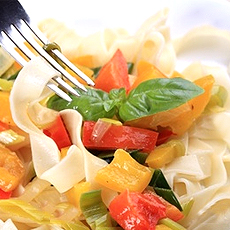Sweet and sour pasta salad.