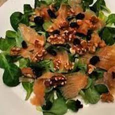 Ensalada con salmón salteado con vinagre de Jerez Merrysab