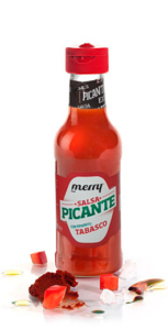 Enjoy the Merry tabasco hot sauce in all your dishes.